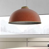 Luceplan Farel LED hanging light rust lampshade