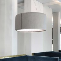 Luceplan Silenzio LED pendant light grey   90 cm