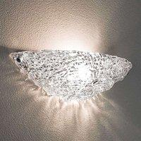 Semi circular Artic glass wall light