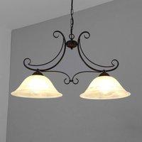 2 bulb Calabre hanging light