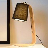 Black fabric shade   Nordic wood table lamp