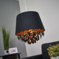 Dolti hanging light with black adornment