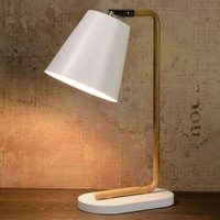 Cona table light with a wood look design