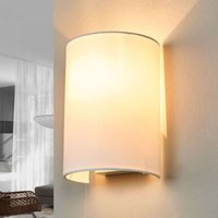 White Coral fabric wall light