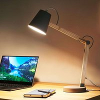Wooden desk lamp Tony  grey