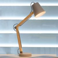 Wooden desk lamp Tony  taupe