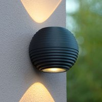 Round LED outdoor wall light Ayo  two bulb
