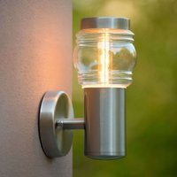 Classic stainless steel outdoor wall light Mirane