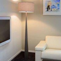 Attractive fabric floor lamp Conos