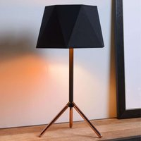Geometric table lamp Alegro with fabric lampshade