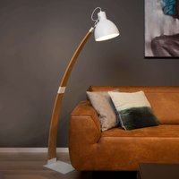 Stylish floor lamp Curf with a white lampshade