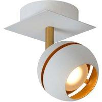 White and gold painted LED spotlight Binari