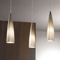 Beige hanging light Iris 3 bulb