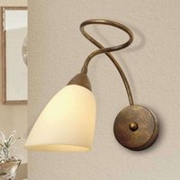 Alessandro wall light in antique brown