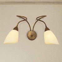 2 bulb wall light Alessandro