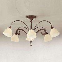 Rustic ceiling light Luca  6 bulb