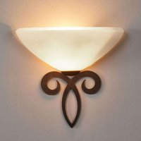 Luca wall lamp country house style white lampshade