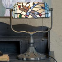 Banker lamp Dragonfly  Tiffany style