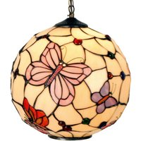 Hanging lamp Rosy Butterfly  Tiffany style
