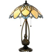 Extraordinary table lamp Poseidon  Tiffany style