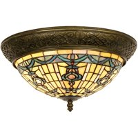Round ceiling lamp Kimberly Tiffany style 38 cm