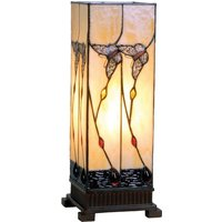Amber coloured table lamp Amberly 45 cm