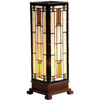 Bridget   a table lamp in cream and amber