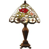Flora classic table lamp in the Tiffany style