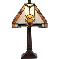 Patterned Tiffany style table lamp Eliazar
