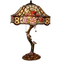 Richly decorated table lamp Claire