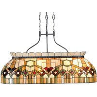 115 cm long Pendant light Saavik  Tiffany style
