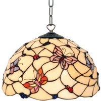 Appealing hanging lamp Palina in the Tiffany style