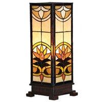 Angular table lamp Sina in a Tiffany look