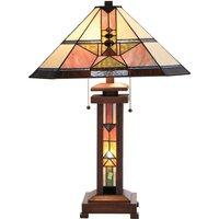 Leondra   beautiful table lamp  Tiffany style