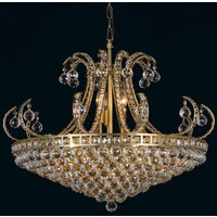 Basket chandelier Ella with glass crystal