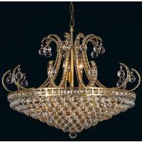 Basket chandelier Ella with glass crystal