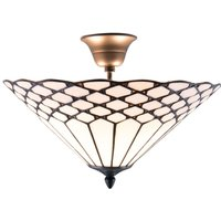 Semi flush Tiffany style ceiling light Kisa