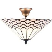 Semi flush Tiffany style ceiling light Kisa