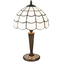 Wiebke table lamp in the Tiffany style