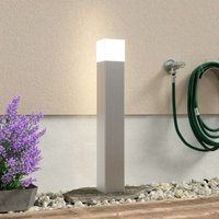 Linus stainless steel path light with opal glass