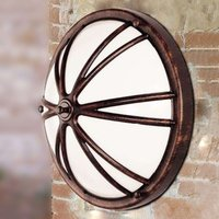 Charly   a round outdoor wall light