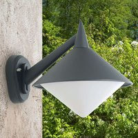 Graphite outdoor wall light Liara  seawater res