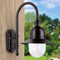 Black outdoor wall light Nios