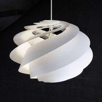 LE KLINT Swirl 1   designer pendant light  white