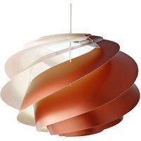 LE KLINT Swirl 1   hanging light  copper coloured