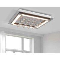Stylish Leggero LED ceiling lamp with crystals
