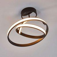 Largo   futuristic LED ceiling light in black