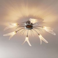 Floral ceiling light Irys in silver