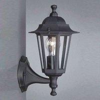 Outdoor wall lamp Peking black standing