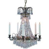 Magnificent candle chandelier Lacko 48 cm